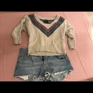American Eagle Wool Crop Sweater